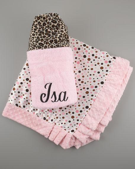 Cheetah Toddler Blanket, Personalized