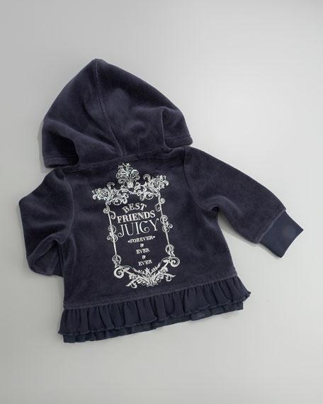 Velour Logo Hoodie & Pants Set