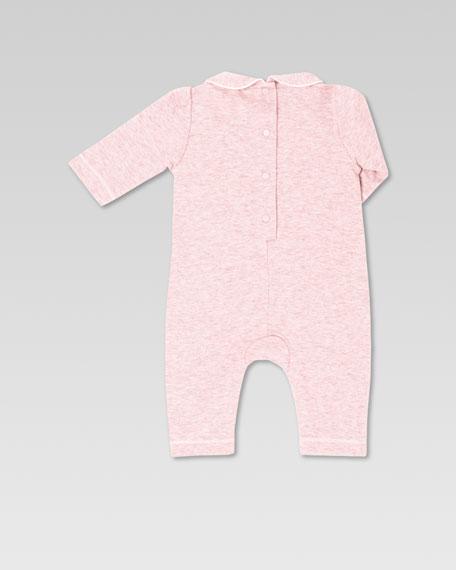 """""""My First Gucci"""" Sleepsuit, Powder Pink/Milk"""