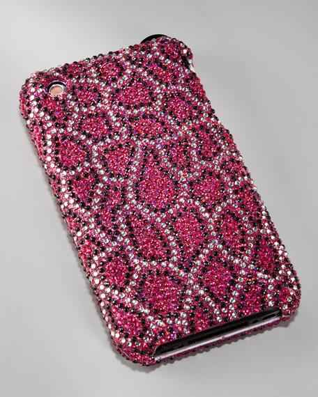Cheetah-Print Rhinestone iPhone Case, iPhone 3G