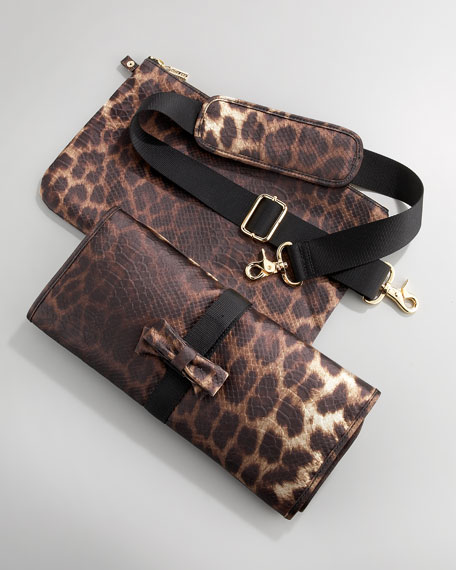 Leopard-Print Diaper Bag