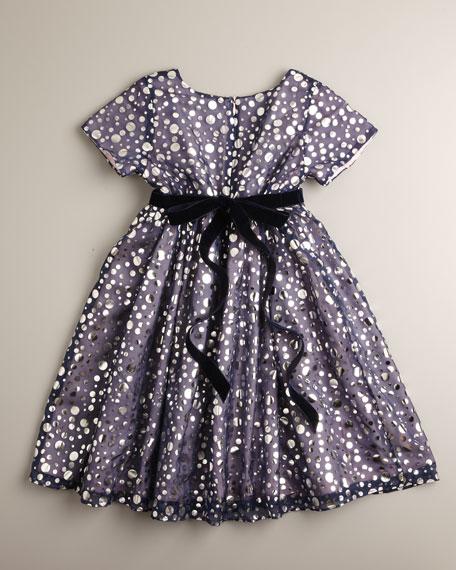 Foil-Print Dress, Sizes 4-6X
