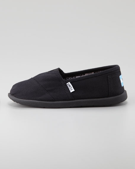 Black Classic Canvas Shoe, Youth