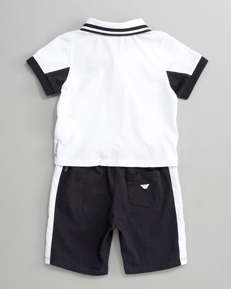 Knit Polo & Shorts Set