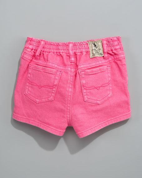 Preppy Denim Shorts