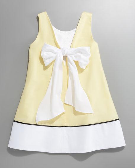 Bow-Back A-line Shift Dress, 12-24 Months