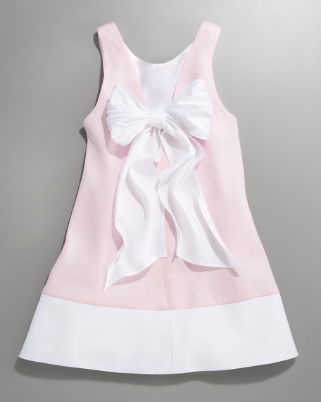 Bow-Detailed A-Line Dress, Sizes 12-24 months