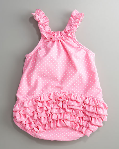 Baby Swimsuit with Cherry Graphics