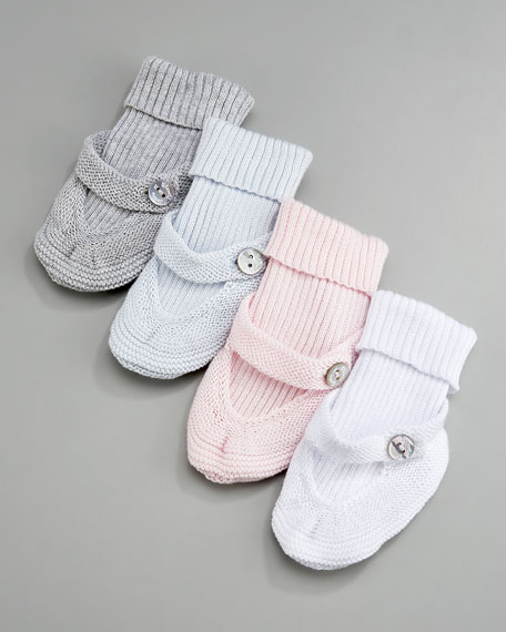 Ribbed-Cuff Knit Socks