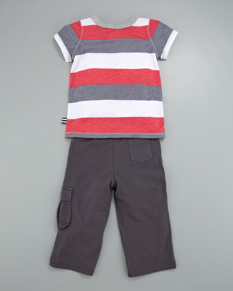 Melange Rugby Tee and Cargo Pants