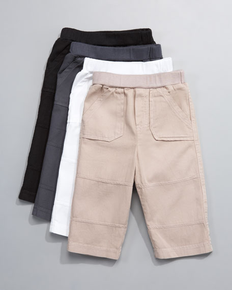 Twill Utility Pants, 3-24 Months