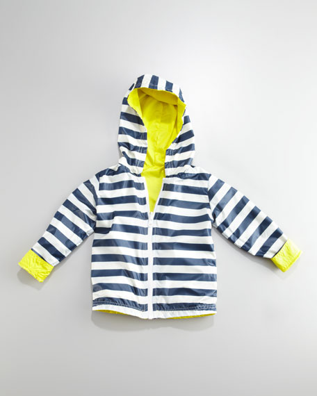 Lemoncello Reversible Rain Slicker, 2T-4T