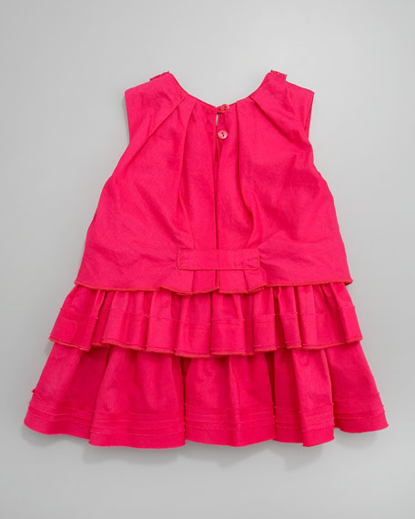 Orchid Popotte Tiered Dress, Sizes 2T-4T