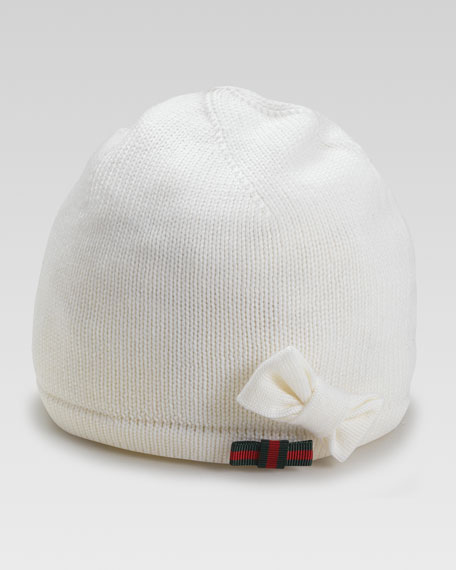 Children's Tricot Hat with Bow