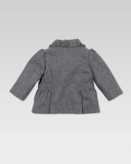 Wool Bow Jacket, Gray