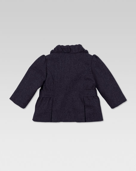 Wool Bow Jacket, Oltremare