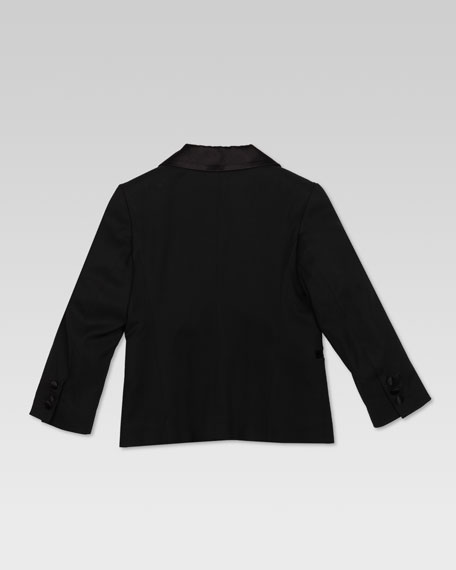 Stretch Wool Tuxedo Jacket