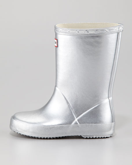 Kid's First Wellie Boot, Silver