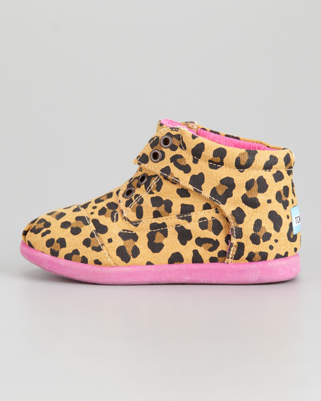 Tiny Leopard-Print Canvas Boot