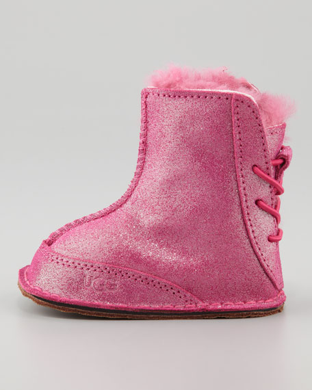 Fuchsia Boo Glitter Boot, Infant