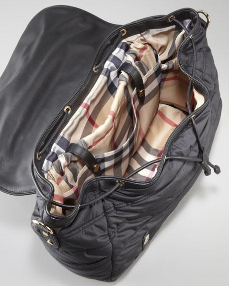 Messenger Diaper Bag, Black