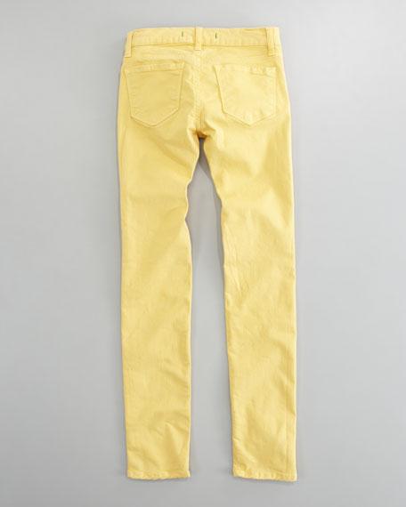 Luxe Twill Skinny Jeans, Lemon Tart