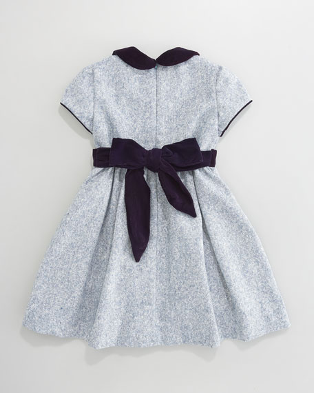 Anna Tweed Cap-Sleeve Dress