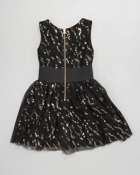 Sequin on Mesh Dress, Sizes 8-10