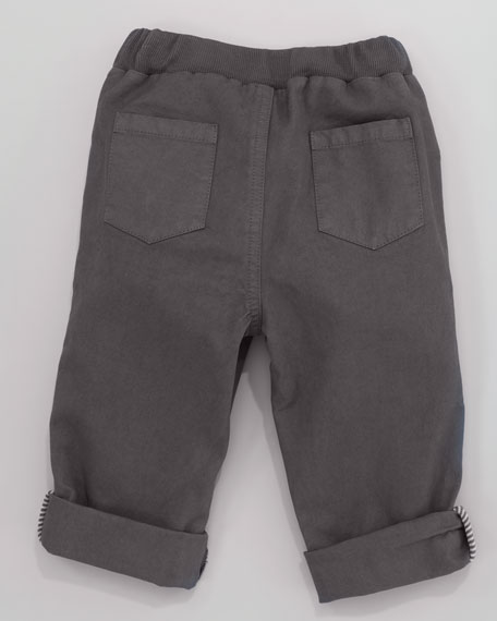 Twill Pants, Pewter