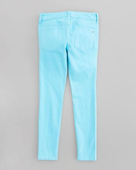 Neon Stretch Denim Leggings, Sizes 8-10