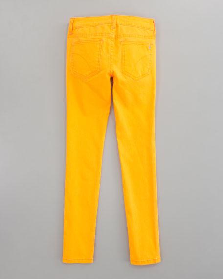 Neon Denim Leggings, Sizes 8-10