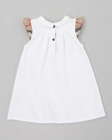 Pique Knit Dress, White