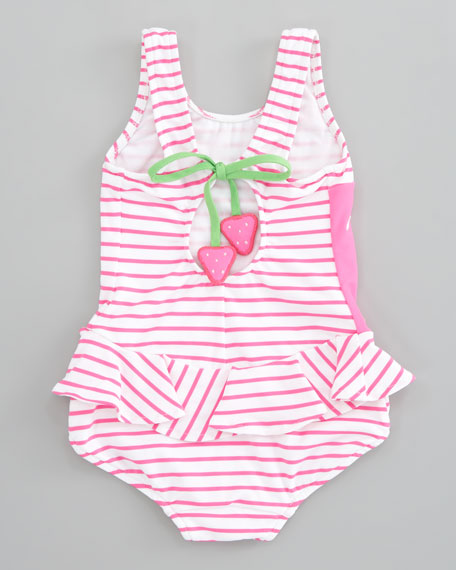 Berrylicious Striped Swimsuit, Sizes 4-6X