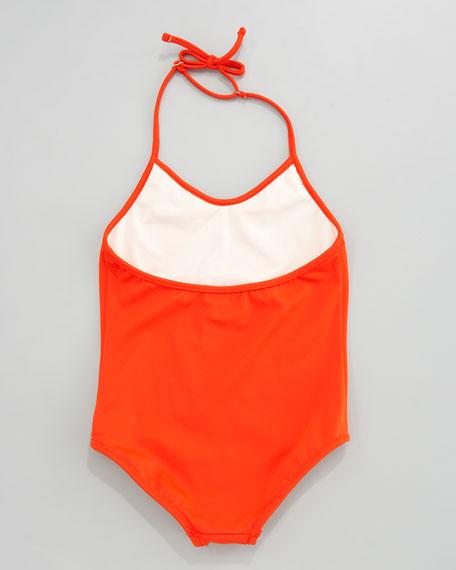 Neon Halter Swimsuit, Sizes 8-10