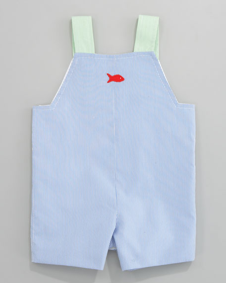Spring Mix Gator Overalls & Tee Set, Sizes 12-24 Months