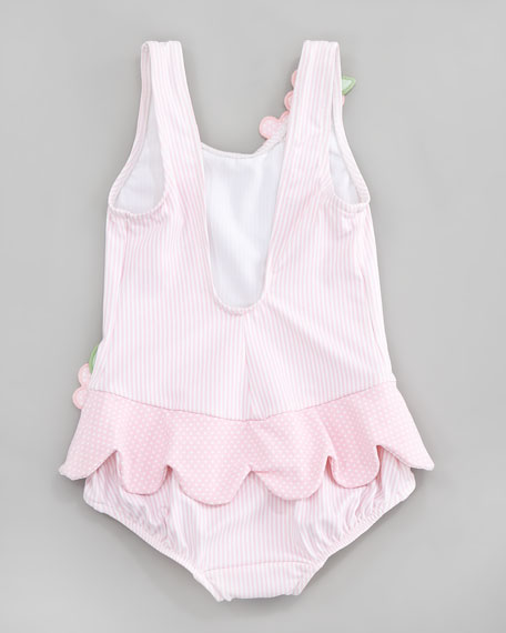 Tickled Pink Ruffled Swimsuit, Sizes 6-9 Months