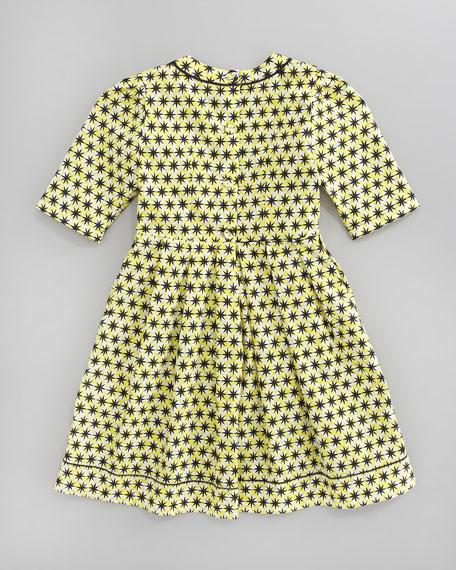 Star-Print Dress, Sizes 8-10