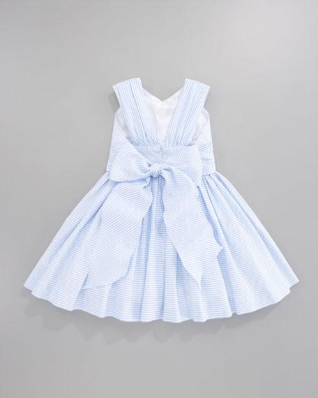 Striped Seersucker Dress, Sizes 4-6X