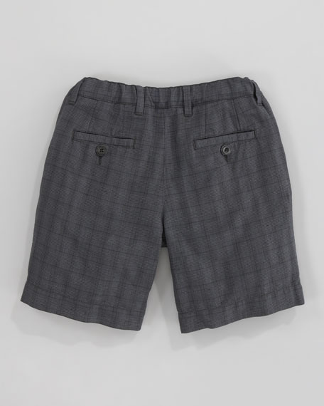 Checked Bermuda Shorts, Sizes 8-10