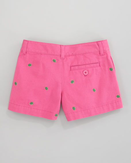 Embroidered Chino Short, Belmont Pink