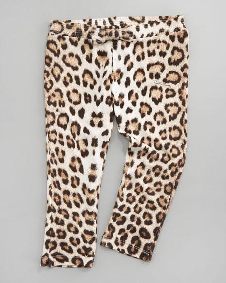Leopard-Print Leggings, Sizes 8-10