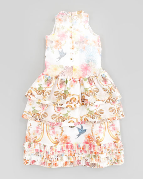 Silk Floral Dress, Sizes 2-6