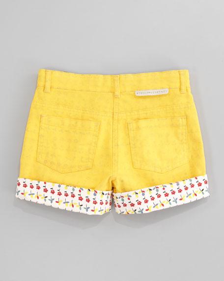 Devon Floral-Trim Shorts