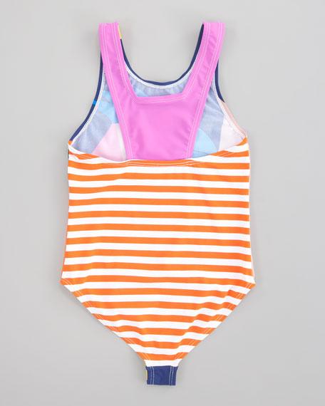 Jasmine Parrot One-Piece Swimsuit, Sizes 2-10
