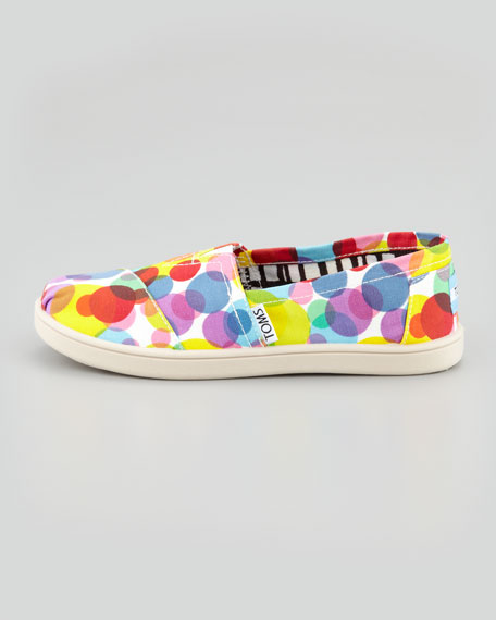 Red Clea Dot Canvas Slip-On, Youth