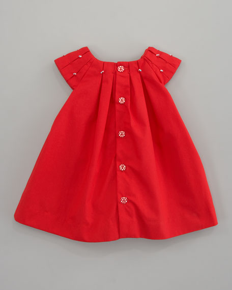 Tutu Pleated Poplin Dress