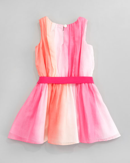 Watercolor Shirred Bodice Dress, Sizes 2T-3T