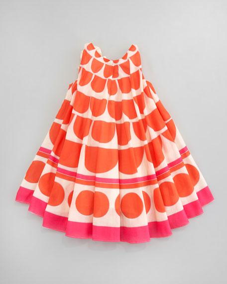 Graphic-Print Circle Dress, Sizes 4-6X