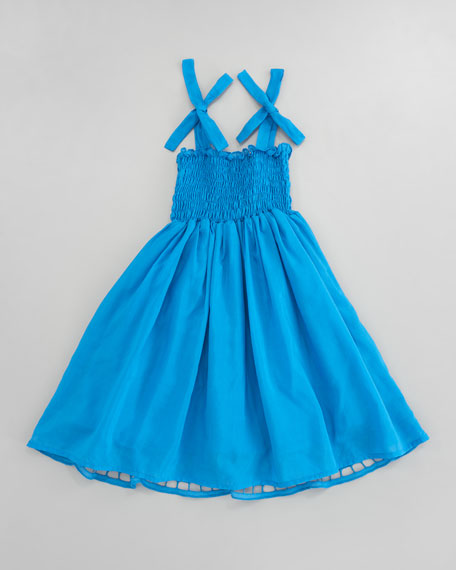 Eyelet Embroidered Smocked Dress, Sizes 2-3T