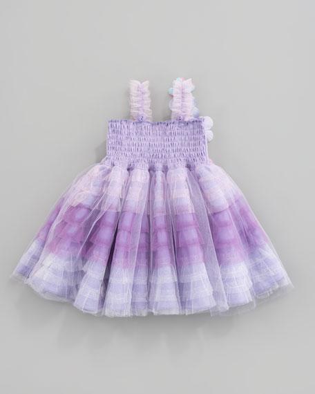 Fleur Bleu Tiered Tulle Dress, Sizes 12-24 Months
